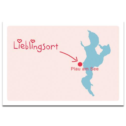 Grußkarte Plaupause Lieblingsort Plau am See