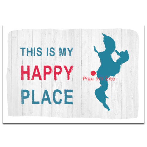 "Postkarte ""Happy Place"" Plau am See"