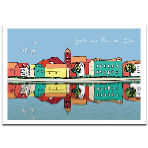 """Plaupause: Postkarte """"Plau Altstadt"""" Plau am See"""