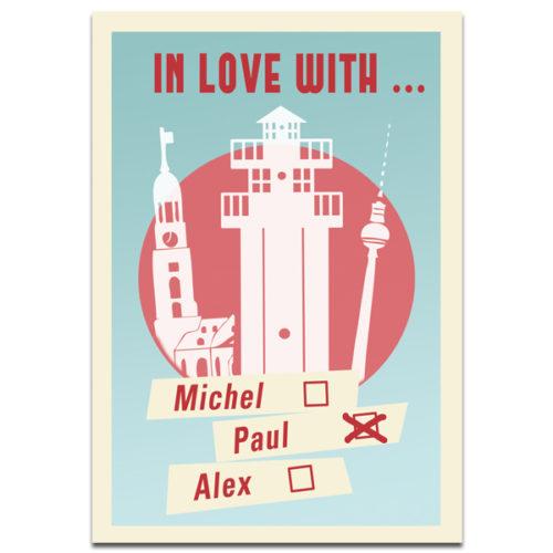 "Plaupause Postkarte ""Michel-Alex-Paul"""