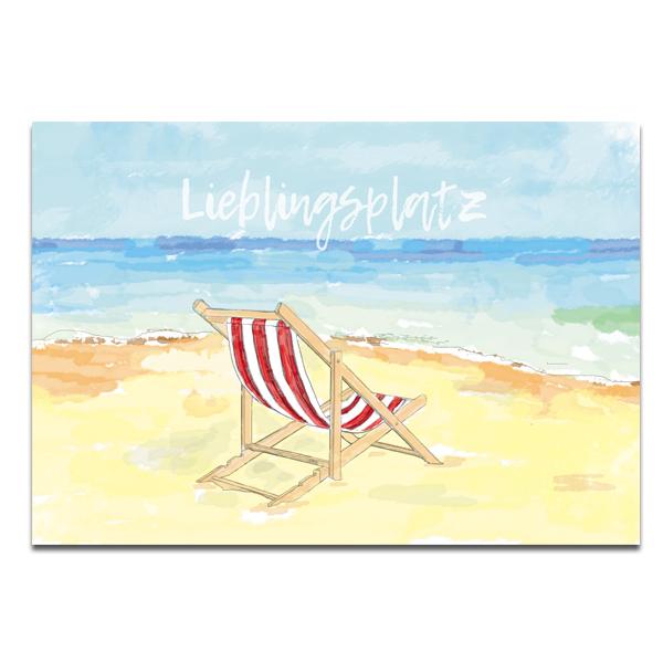 """Plaupause Postkarte """"Lieblingsplatz"""" Ostsee"""