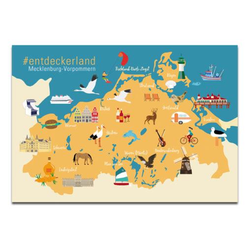 "Plaupause Postkarte ""MV Entdeckerland"""