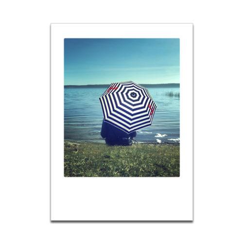 """Plaupause Grußkarte """"Wetterfest"""" Polaroid-Optik"""