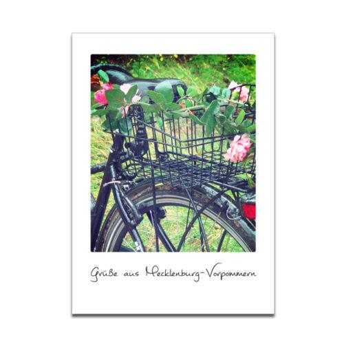 """Plaupause Grußkarte """"Fahrrad"""" Polaroid-Optik"""