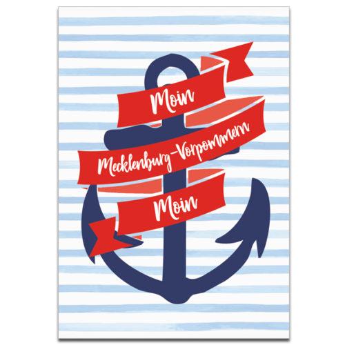 "Plaupause Postkarte ""Moin Moin Mecklenburg-Vorpommern"""