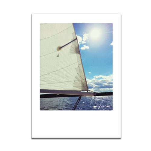 """Plaupause Grusskarte """"Segel"""" Polaroid-Optik"""