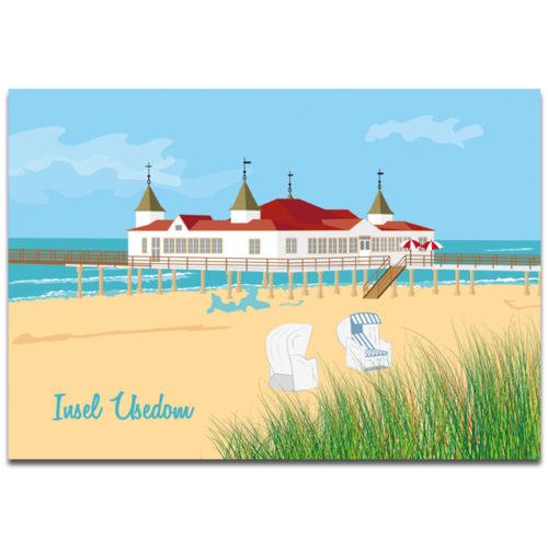 """Plaupause Postkarte """"Insel Usedom"""""""