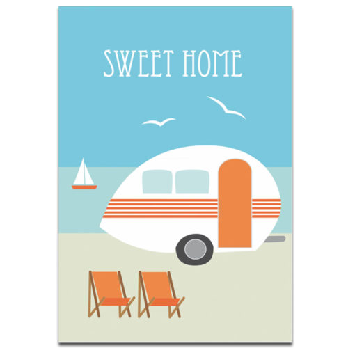 "Plaupause Postkarte ""Sweet Home"""