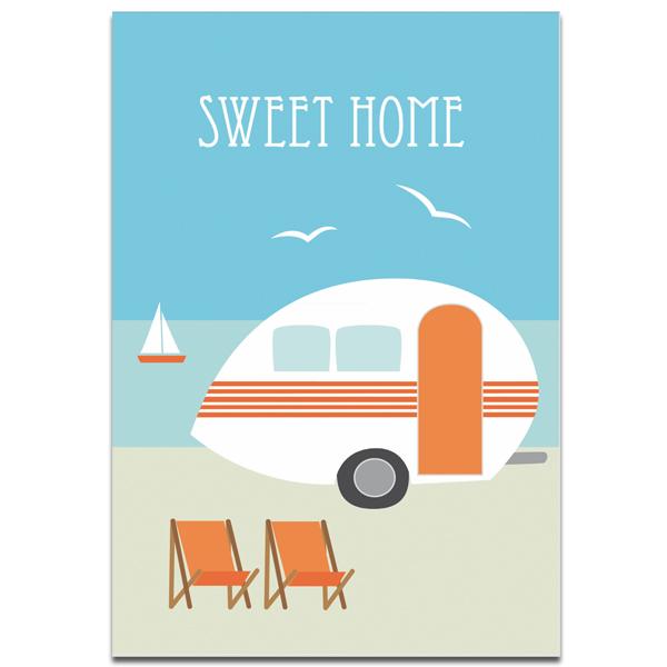 """Plaupause Postkarte """"Sweet Home"""""""
