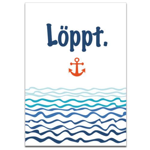 """Plaupause Postkarte """"Löppt"""""""