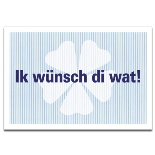 """Plaupause Postkarte """"Ik wünsch di wat"""""""