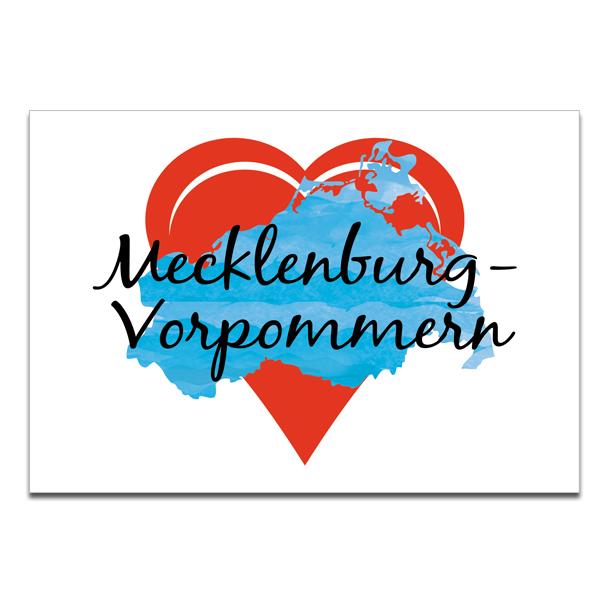 """Plaupause Postkarte """"Heimatliebe Mecklenburg-Vorpommern"""""""